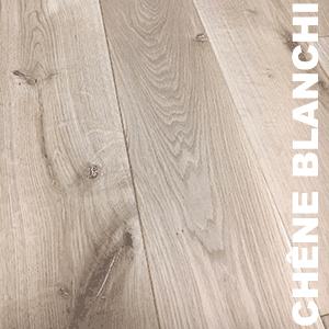 Parquet Massif Chêne Rustique - 20 x 200 mm - brossé - verni mat - Noeuds blancs - PROMO