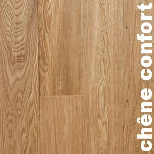 Parquet contrecollé Chêne Confort - 16 x 200 mm - brut - PROMO