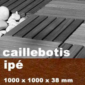 Caillebotis de terrasse en dalles de bois exotique for Bois exotique ipe prix