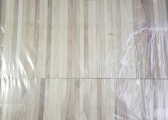 Parquet Industriel Frene 10 X 8 X 160 Mm Sur Chants
