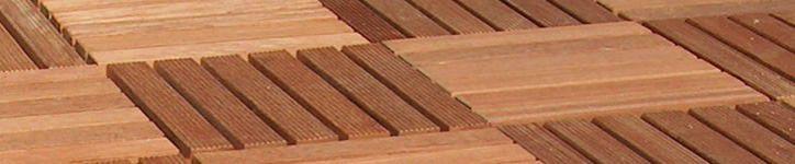 de terrasse en bois exotique classe IV et en bois composite