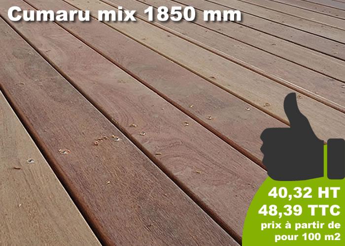 TERRASSE - LAMES PARQUET MASSIF CUMARU - 21 X 145 X 1850 MM