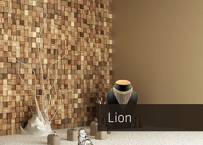 MOSAÏQUES MURALES 3D - LION