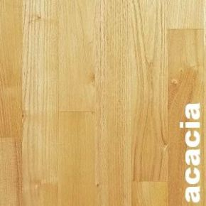 Parquet massif Acacia - 10 x 70 mm - brut - Double Face