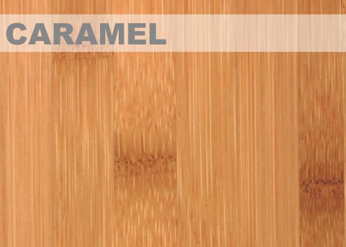 Parquet contrecollé Bambou Topbamboo Moso - 10 x 128 mm - Verni - Caramel - Vertical - Clipsable