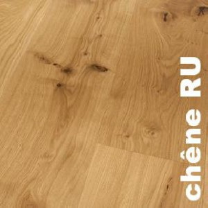 Parquet contrecollé Chene Rustique - 20 x 295 x 3000 mm - Verni - Nice
