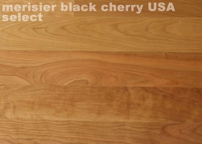 Parquet contrecollé Merisier Select - 10 x 120 x 1200 mm - Verni