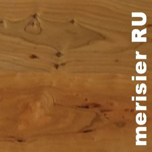 Parquet contrecollé Merisier Rustique - 10 x 120 x 1200 mm - Verni