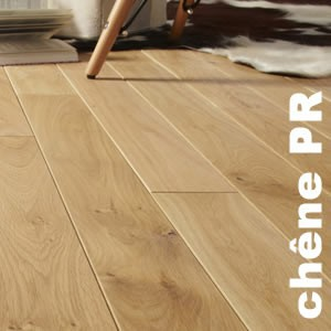 Parquet contrecollé Chêne Premier - 12 x 145 mm - Verni mat - Brossé - Quimper