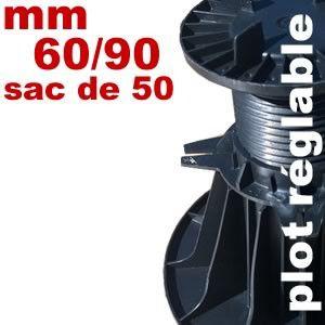 Plot réglable de type Soprema - 60 à 90 mm