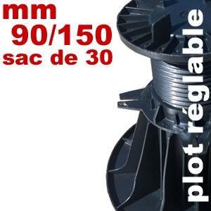 Plot réglable de type Soprema - 90 à 150 mm
