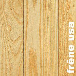 Parquet massif Frêne USA - 14 x 110 mm - verni