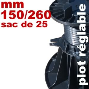 Plot réglable de type Soprema -150 à 260 mm