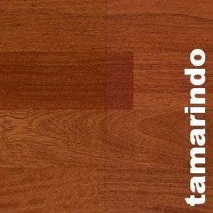 Parquet massif planchette Tamarindo - 10 x 60 x 300 mm - brut