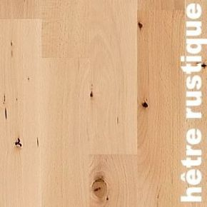 Parquet massif Hetre Europe RU - 20 x 90 mm - brut