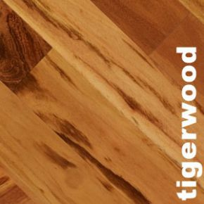 Parquet massif Tigerwood Muiracatiara - 14 x 90 mm - verni