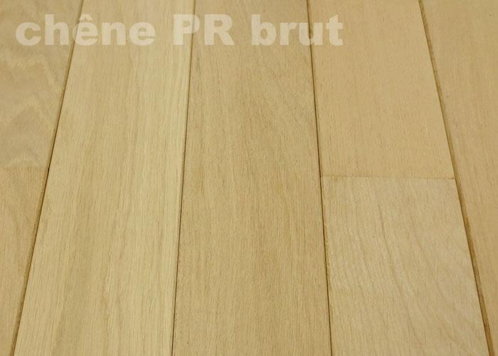 Parquet massif Chêne Premier - 20 x 120 mm - brut - Aubier léger - PROMO