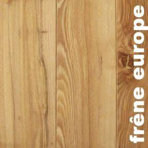 Parquet massif planchette Frene - 10 x 60 brut