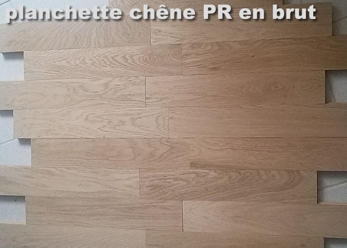 Parquet massif planchette Chêne Premier - 10 x 55 x 280 mm - brut