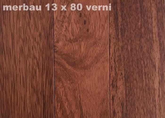 Parquet massif Merbau - 14 x 140 mm - Verni satiné
