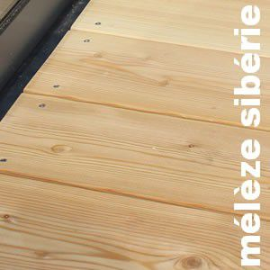 Terrasse - Lames parquet massif Meleze Sibérie - 39 x 110 mm - Premier choix