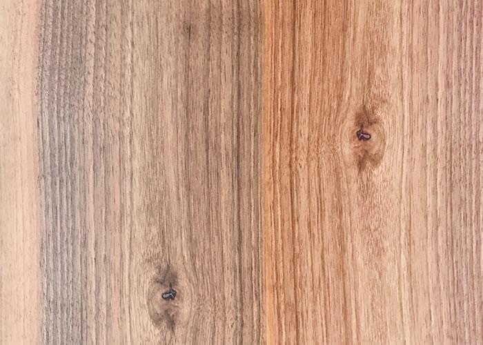 Parquet massif planchette Noyer Italien - 10 x 60 x 300 mm brut