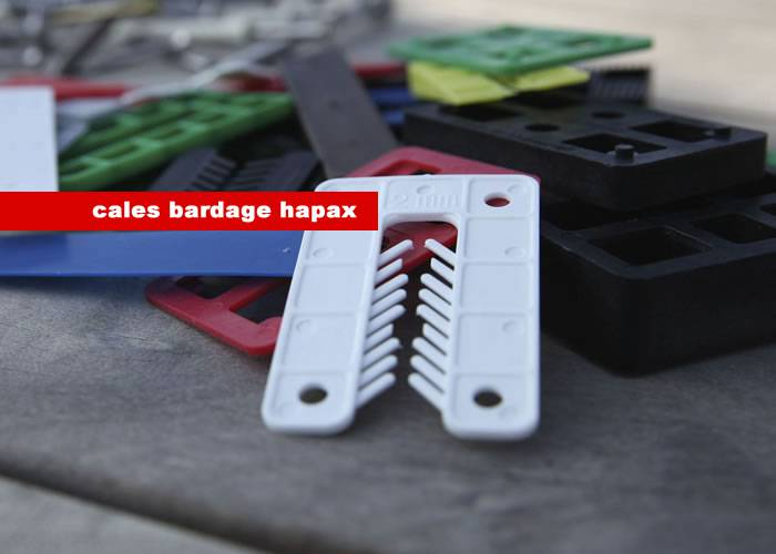 Hapax - Cales bardages 40 x 1/2/3/4/5 x 40 x 55 mm - Boîte de 200 pièces