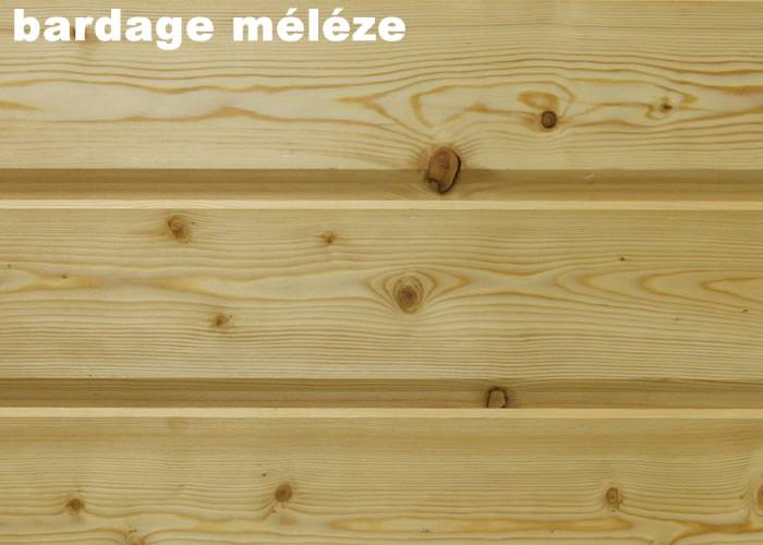 Bardage en Melèze de Siberie - 20 x 143 x 4000 mm - Planche