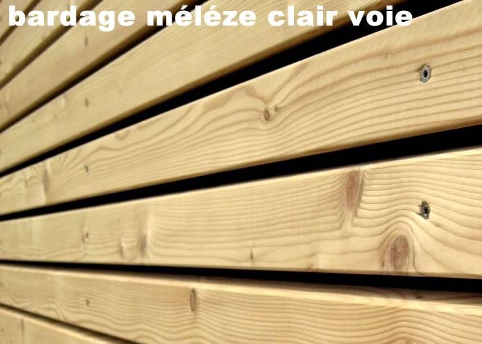 Bardage en Melèze de Siberie - 20 x 145 x 3000 mm - Profil Clin Rainures et Languettes 2 côtés