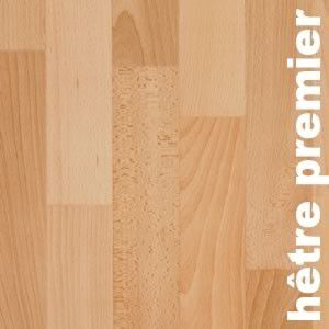 Parquet massif Hetre Europe Select - 14 x 120 mm - brut
