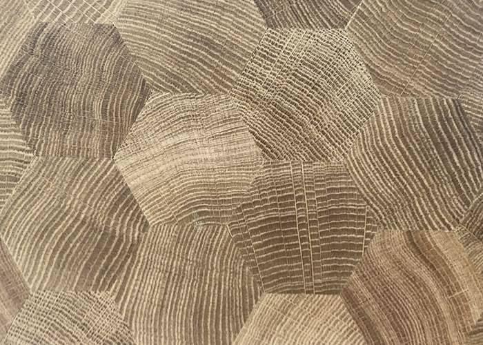 Parquet massif en bois de bout Chêne - 15 x 69 x 60 - Brut - Hexagones