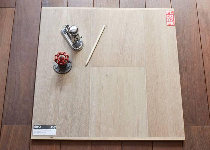 Parquet contrecollé Chêne - 15 x 190 x 1900 mm - fumé - huilé blanc - Toundra