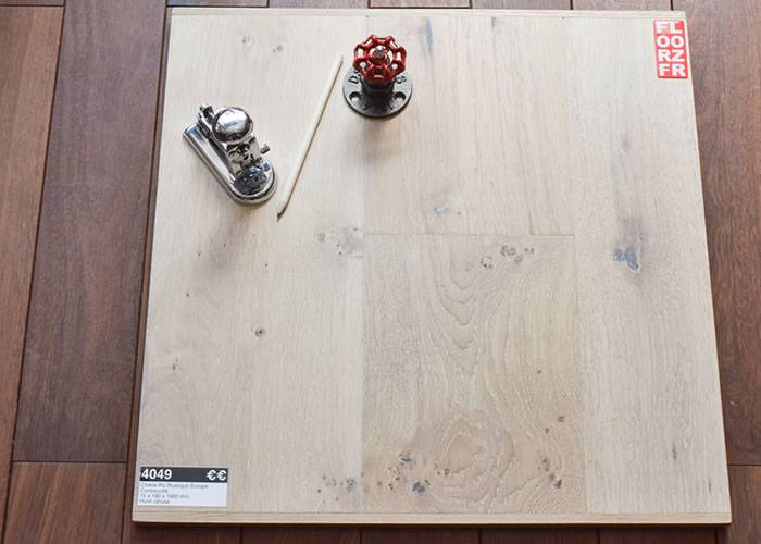 Parquet contrecollé Chêne - 15 x 190 x 1900 mm - huilé cérusé - Sibérie