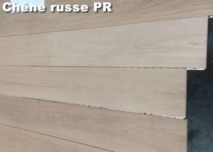 Parquet contrecollé Chêne Premier - 10 x 90 mm - Verni satiné