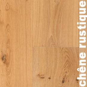 Revêtement de sol en chêne Rustique - 10 x 150 x 1185 mm - Brossé - Verni mat - PRIMO