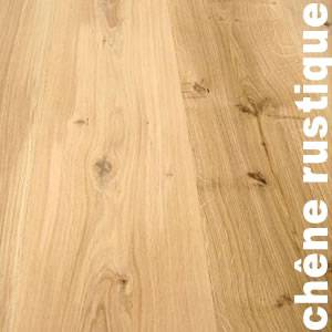 Parquet massif chêne rustique - Double face - 20 x 140 mm - brut