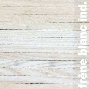 Parquet industriel sur chants en Frene blanc