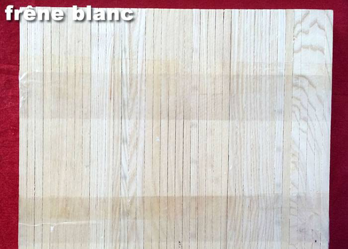 Parquet Industriel Frene Blanc - 21 x 08 x 230 mm sur chants - PROMO