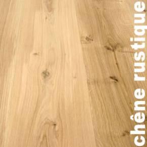 Parquet massif Chêne Rustique - 15 x 120 x 600 - 2200 mm - Brut