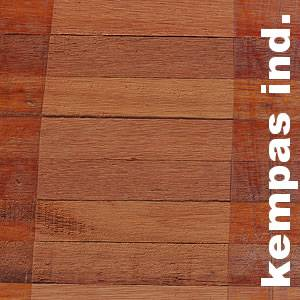 Parquet Industriel Kempas - 14 x 22 x 250 mm sur chants massif