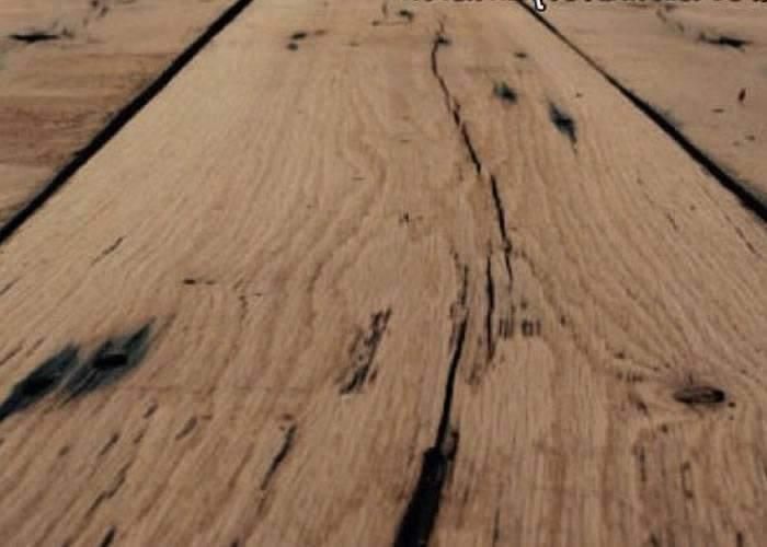 Plancher Chêne ancien recyclé Russe - 22 x 100 à 200 mm - brut - Mulhouse