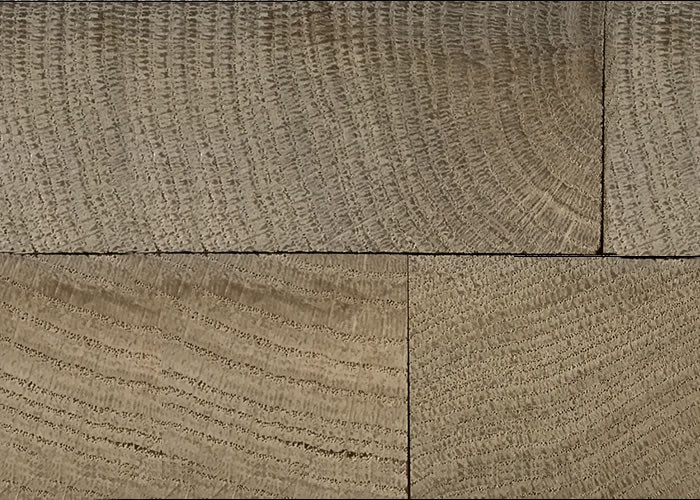 Parquet massif en bois de bout Chêne - 22 x 45 x 75 - Brut - Damier
