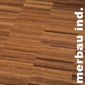 Parquet Industriel Merbau - 15 x 20 x 200 mm sur chants