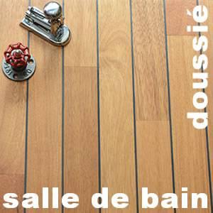 parquet massif salle de bain avec joint integre en doussie