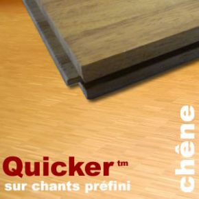 Parquet Industriel Chene sur chants préfini Quicker - 14 mm