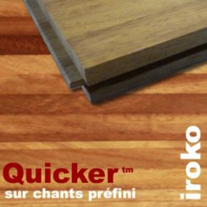 Parquet Industriel Iroko sur chants préfini Quicker - 14 mm