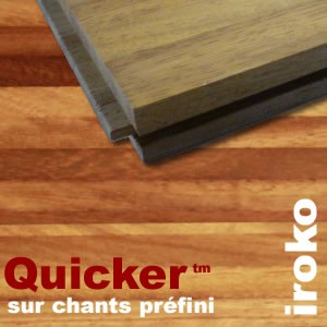 parquet industriel iroko sur chants pr fini quicker 14 mm. Black Bedroom Furniture Sets. Home Design Ideas