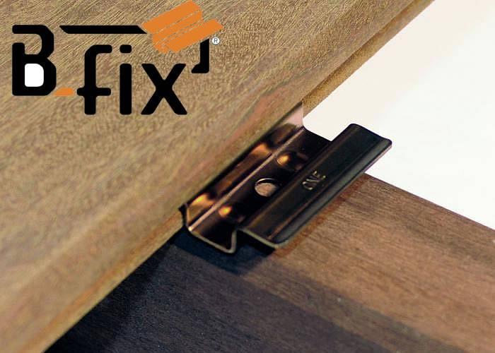 Clips B-Fix Black One Noir - fixation lame de terrasse - Kit 5 m2