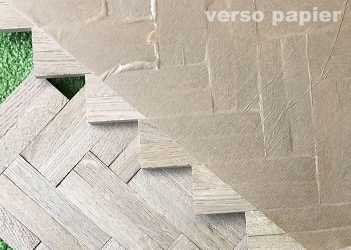 Parquet Industriel mosaique bâtons rompus Chêne Premier - 8 x 23 x 160 mm - brut - 2 lamelles