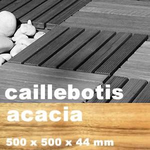 Caillebotis résineux + feuillus en Acacia, Robinier